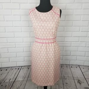 Cream & Pink Mid-weight Sleeveless Dress